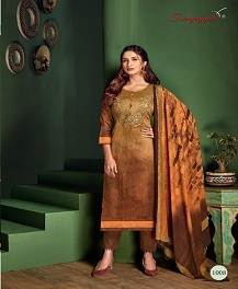 Suryajyoti Shaded Collection Embroidered Cotton Dress Material