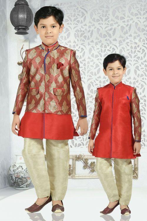 Boys Indian Kurta Pajama 2 Party Wear Kurta Pajama