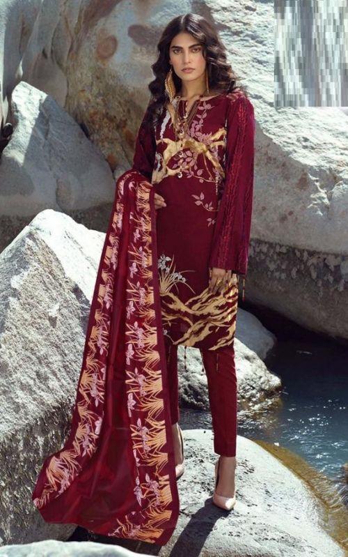 Te Karachi 2 Pure Lawn Cotton Dress Material