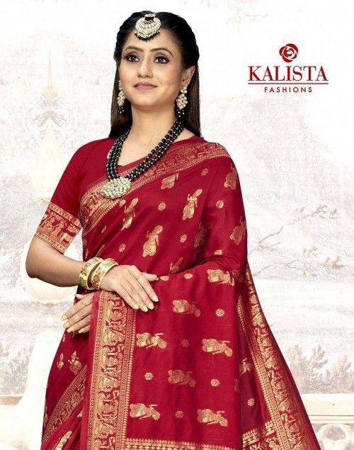 Kalista Bhagyawati Gold Festive Wear Banarasi Silk Saree collection