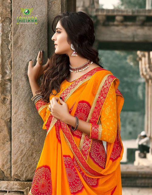 Sanskar Nach Baliye 4 Georgette Printed Casual Wear Saree Collection