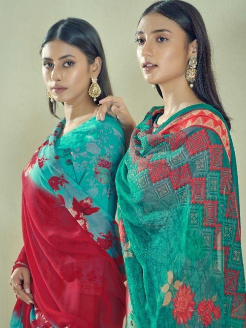 Suryajyoti Naishaa 29 Heavy Satin Cotton Designer Dress Material Collection
