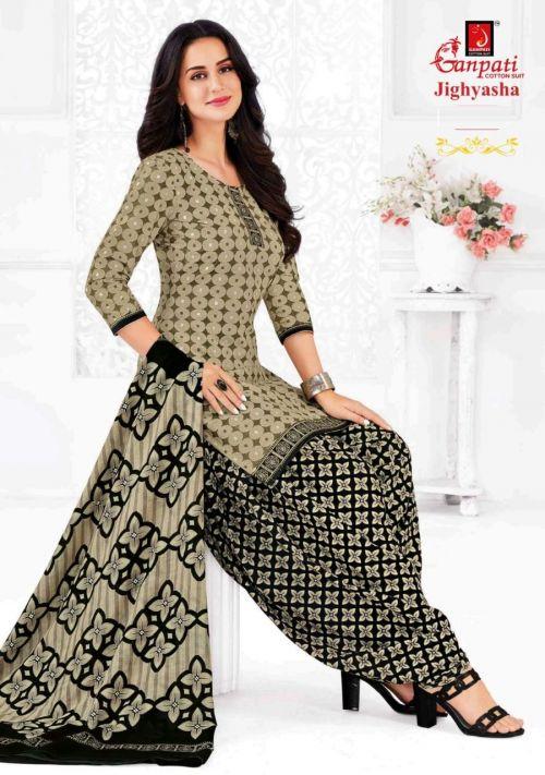 Ganpati Jigyasha 14 Printed Cotton Punjabi Patiyala Dress Material
