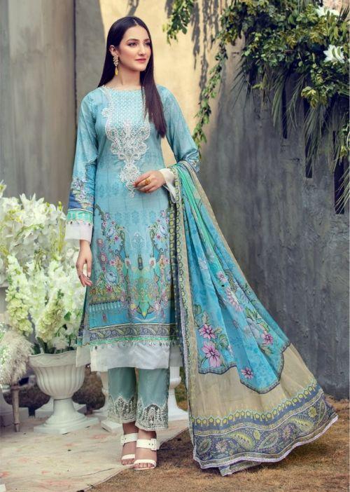 Iris 12 Cotton Karachi Dress Materials Collection