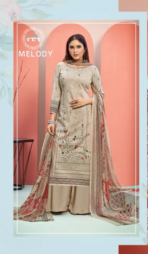 Harshit Melody Pure Cambric Cotton Fancy Designer Dress Material Collection