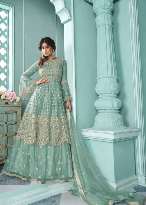 As 8318 Heavy Wear Embroidery Work Salwar Kameez Collection