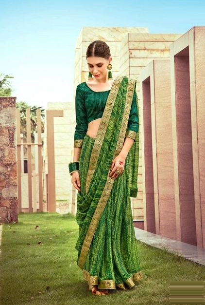Kalista Shagun Casual Wear Georgette Saree Collection