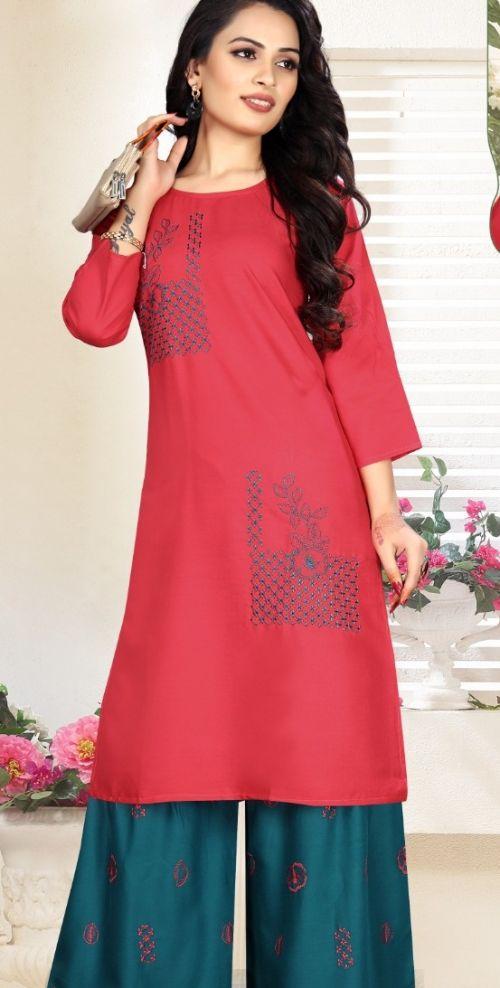 Pahal Festive Wear Designer Kurti With Bottom Collection