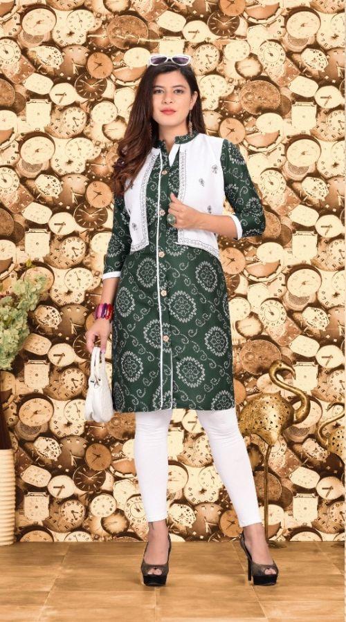 Feelings Fancy Designer Kurti Wih Jacket Collection