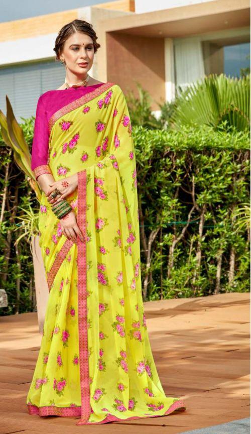Laxminam Devi Casual Wear Georgette Saree Collection