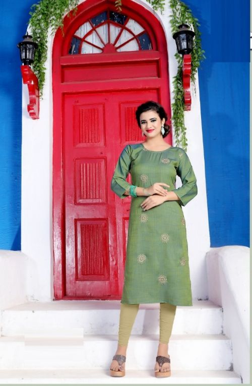Prime Ethnic Wear Embroidery Rayon Kurti Collection