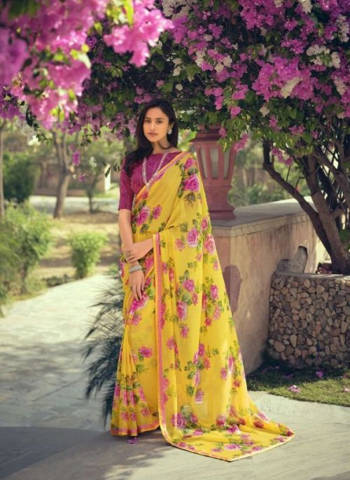 Sanskar Rahi 10 Fancy Wear Brasso Saree Collection