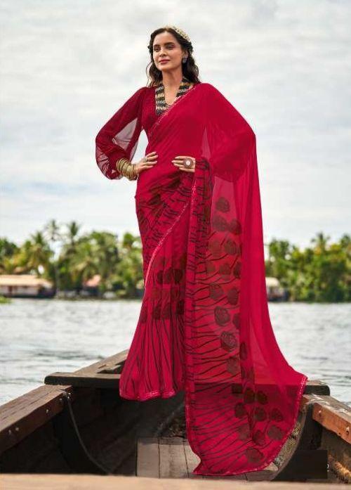 Sanskar Saachi Printed Wear Georgette Saree Collection