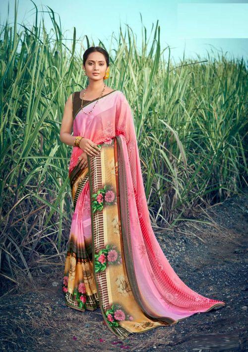 Saroj Hot And Cool 2 Brasso Printed Saree Collection