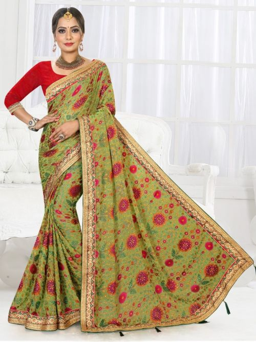 Ronisha Anjeer Brasso Traditional Wear Saree Collection
