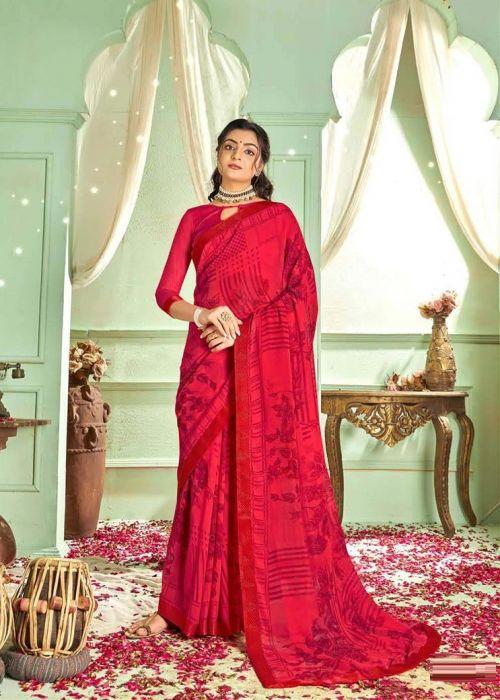 Sawariya Party Wear Georgette Printed Saree Collection