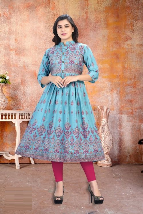 4Cross Glam Ethnic Wear Designer Long Kurti Collection