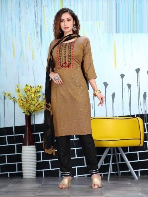 Lurex Fancy Wear Long Kurti With Dupatta Collection