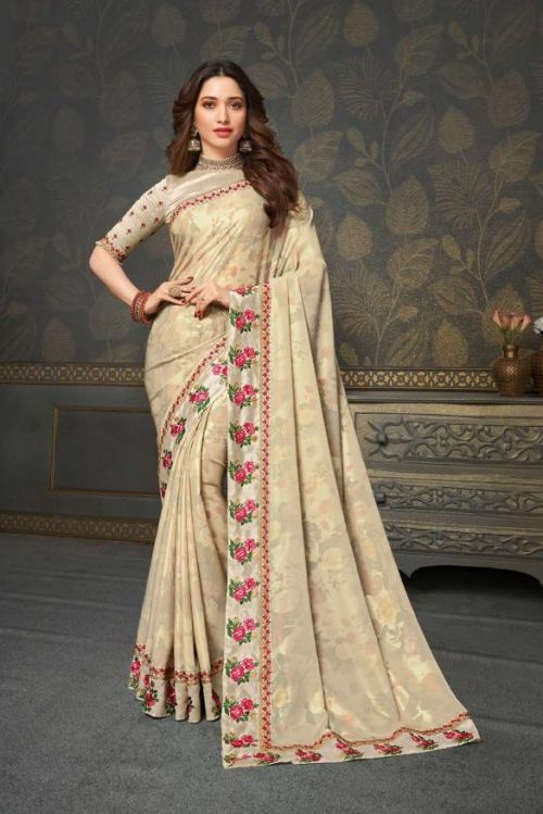 Joh Rivaaj Jhalak 53 Wedding Wear Embroidery Saree