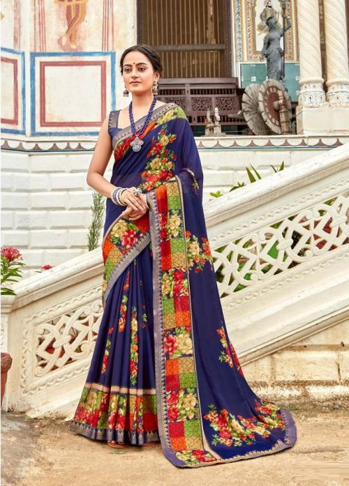 Laxminam Shruthi Casual Wear Georgette Saree Collection