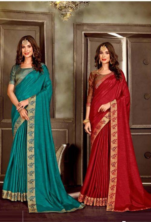 Laxminam I Phone Casual Wear Vichitra Silk Saree Collection
