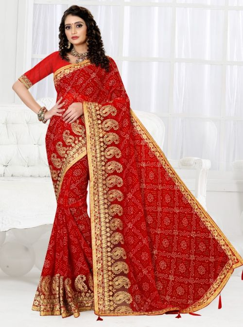Ronisha Summer Festive Wear Embroidery Work Saree Collection
