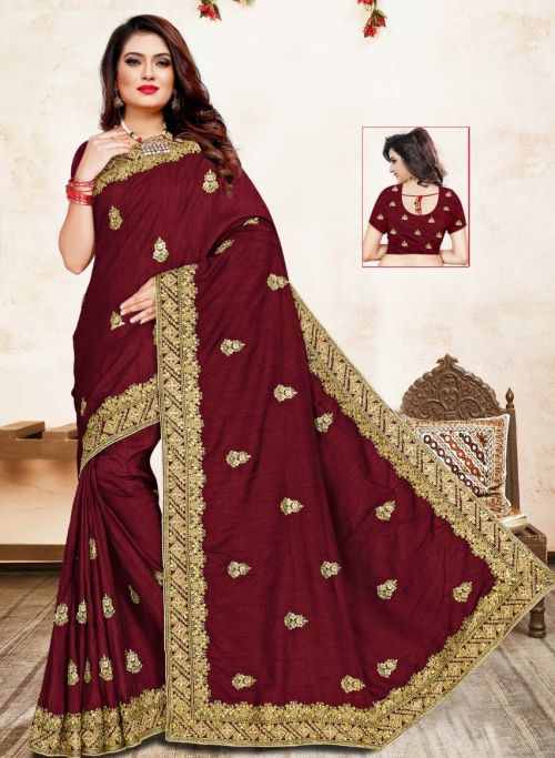 Ronisha Sonat Festive Wear Embroidery Worked Saree Collection