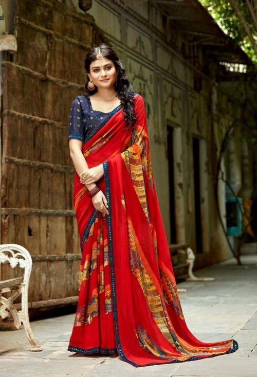 Laxminam Parampara Casual Wear Georgette Saree Collection