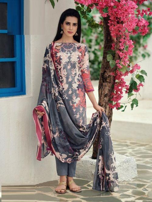 Ishaal Prints Gulmohar 15 Nx Lawn Cotton Dress Material