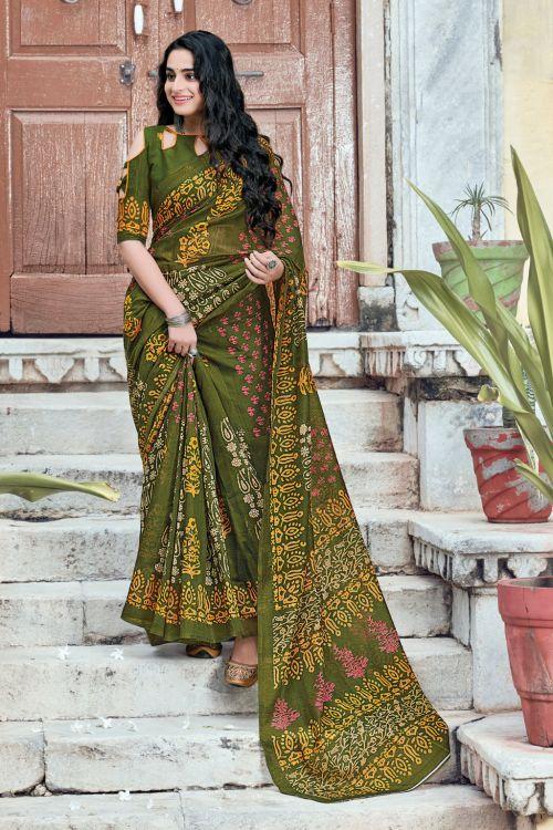 Sangam Aakruti Casual Wear Printed Saree Collection