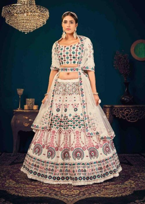 Kf Guldasta 8 Wedding Wear Georgette Lehenga Collection