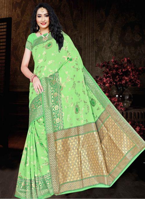 Ronisha Rainy Casual Wear Cotton Silk Saree Collection
