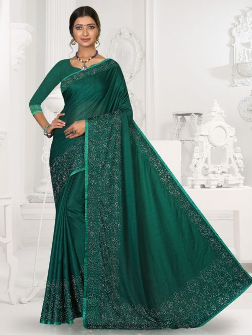 Ronisha Better Siroski Diamond Designer Saree Collection