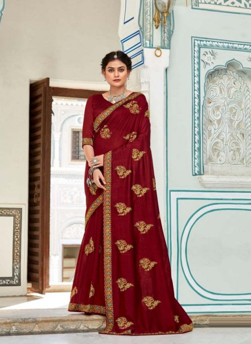 Kalista Radhika 2 Party Wear Vichitra Silk Saree Collection