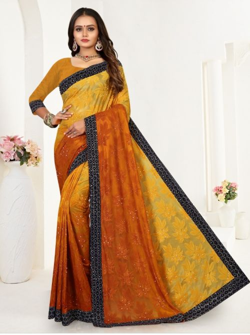 Ronisha Kangraoo Festive Wear Brasso Saree Collection