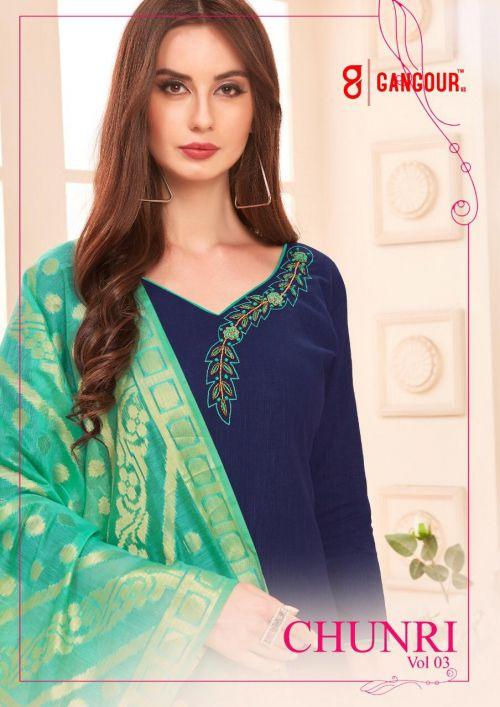 Gangour Chunri Vol 3 Cotton Dress Material