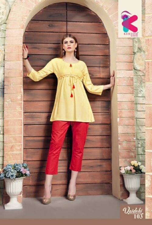 Kersom Vaidehi Heavy Rayon Top With Pant