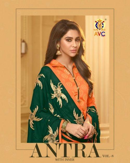 Avc Antara 8 Designer Banarasi Jacquard Churidar Dress Material Wholesaler