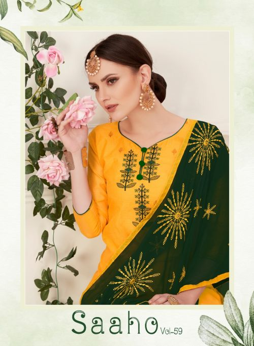 Saaho Vol 59 Chanderi Cotton Dress Material Collection