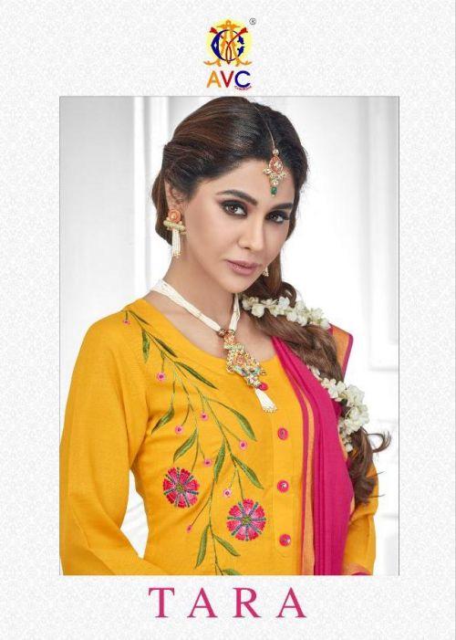 Avc Tara Heavy Cotton Slub Churidar Dress Material Collection