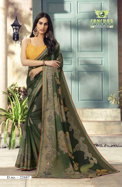 Sanskar Rahi 7 Brasso Printed Wedding Wear Saree