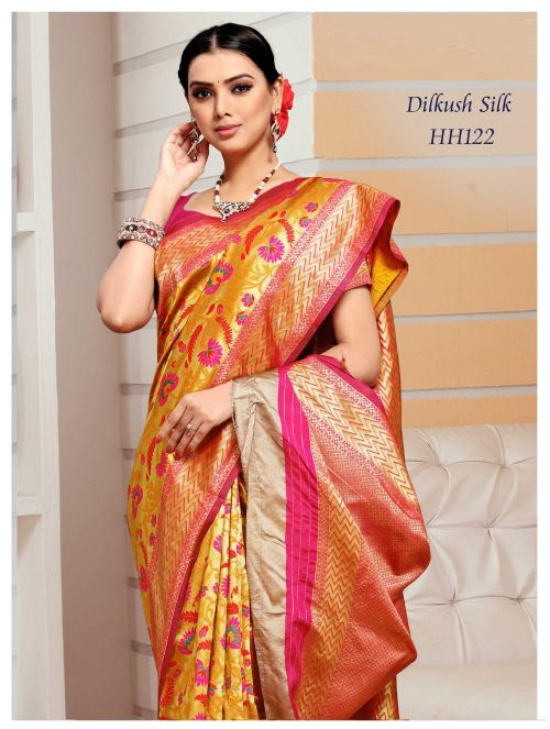 Dilkhush Mysore Silk Heavy Meenakari Worked Saree
