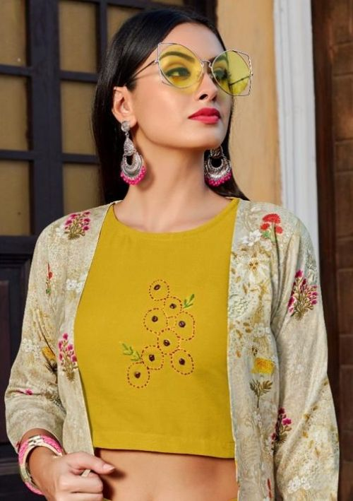 Vastra Urbane 1 Rayon Crop Top With Shrug Collection