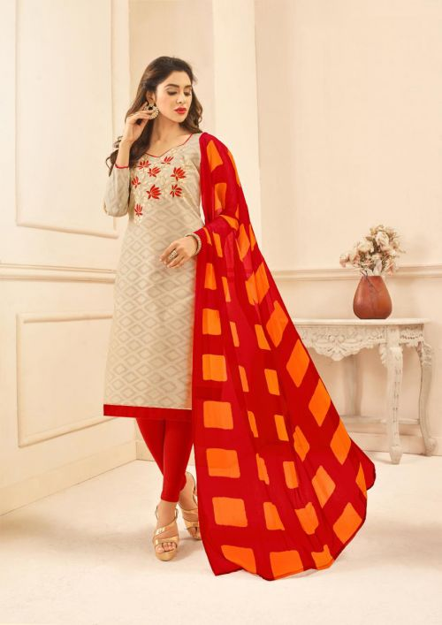 K Divanshi 1 Jacquard Cotton Designer Dress Material