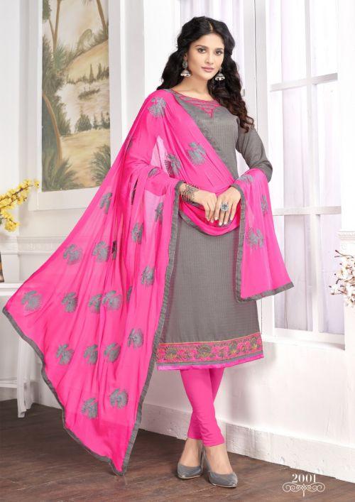 K Florence 2 Churidar Cotton Dress Material
