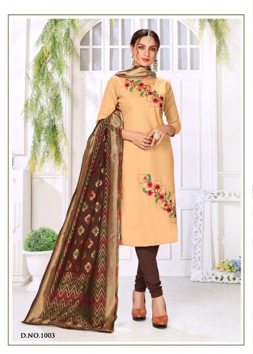 RM Panipuri 1003 Banarasi Dress Material