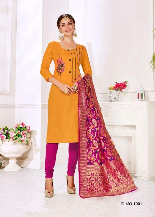 RM Panipuri 1001 Banarasi Dress Material