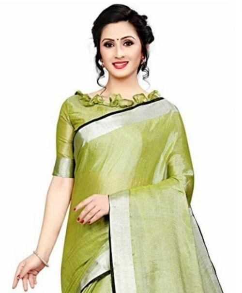 DIF Collection 1062 Festive Wear Tissue Linen Saree