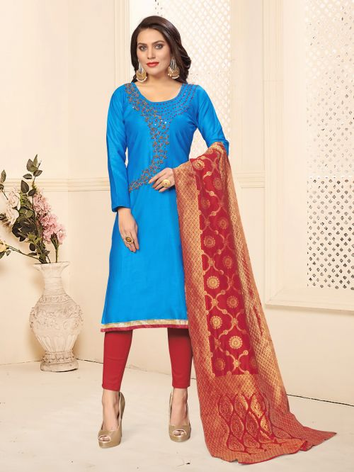 Rnx Jam Cotton 1 Designer Jam Cotton Churidar Dress Material