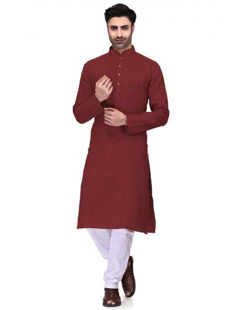 Pinak Mens Kurta Ready Made Cotton Kurta With Pajama